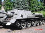"The SU-100 is a Soviet tank destroyer. It came out late in the war and Russians referred to it a the ""Pizdets vsemu"" ""The Fucking end to anything"""