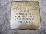 Johann Schindler was in Widerstand (the Resistance), sent to Flossenburg