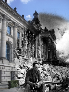 Berlin before and after Reichstag German Soldier