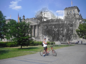 Berlin before and after Reichstag Martin Bike