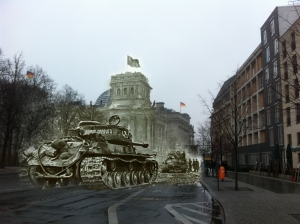 Berlin before and after battle of Berlin Reichstag Tank
