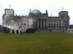 Berlin before and after Soviet Soldiers Assaulting Reichstag battle of berlin