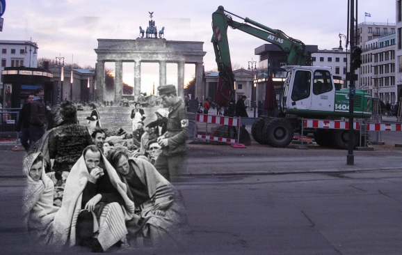Berlin Now and Then Battle of Berlin Brandenburg Gate Refugees