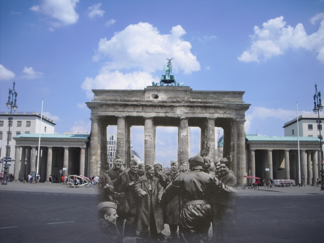 Berlin Now and Then Battle of Berlin Brandenburg Gate World War 2 Red Army